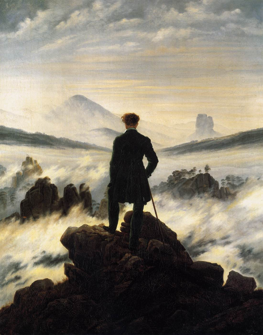 Title: The Wanderer above the Mists. Date: 1817-18. Medium: oil on canvas