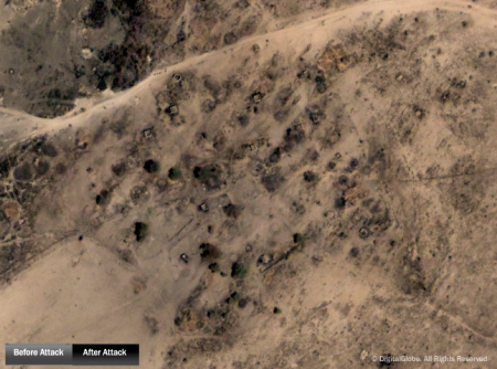 Ishma, Darfur, before and after attacks in 2004-2005.